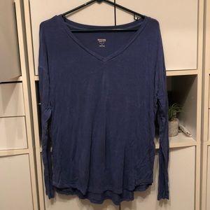 Blue silky long sleeve